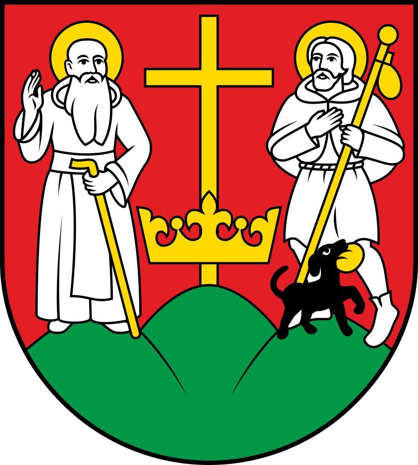 Nowa propozycja herbu będąca przedmiotem wniosku do MSWiA o zaakceptowanie (poprawionego) wzoru herbu.